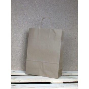 torba papierowa eko 24x32x10 cm uchwyt papierowy skrecany