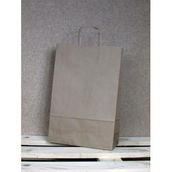 Torba papierowa eko 24x36x10 cm uchwyt papierowy skręcany