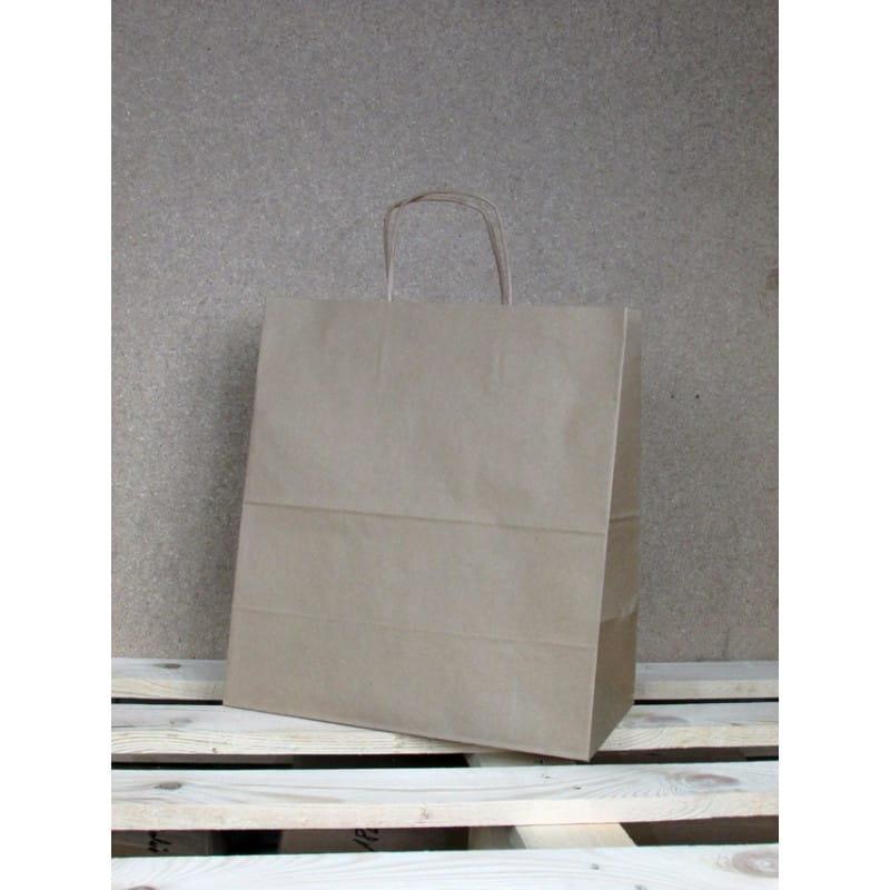Torba papierowa eko 30,5x34x17 cm uchwyt papierowy skręcany