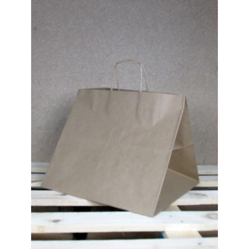 Torba papierowa eko 36x33x32 cm uchwyt papierowy skręcany