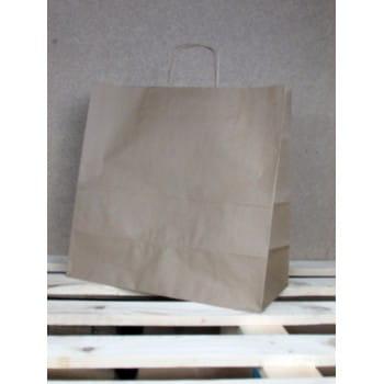 Torba papierowa eko 40x39x18 cm uchwyt papierowy skręcany