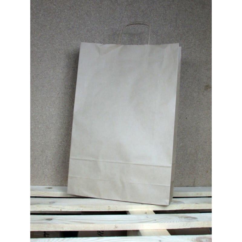 Torba papierowa eko 33x50x12 cm uchwyt papierowy skręcany