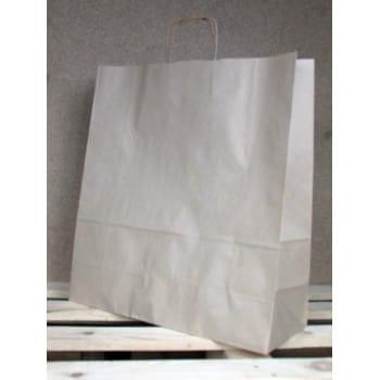 Torba papierowa eko prążek 45x48x17 cm uchwyt papierowy skręcany