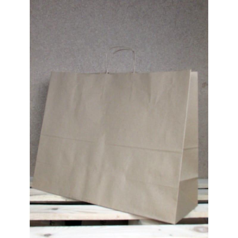 Torba papierowa eko 50x39x18 cm uchwyt papierowy skręcany